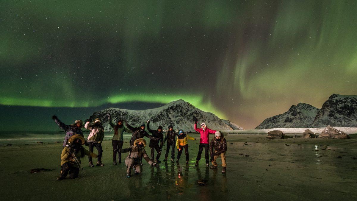 aurora boreale - lofoten - camminate fotografiche