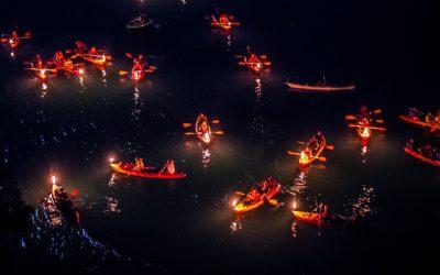 canoa notte fiume savio - camminate fotografiche
